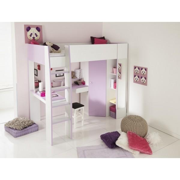 Parisot Mila Lilac Highsleeper Bed Forever Furniture - Parisot bedroom furniture