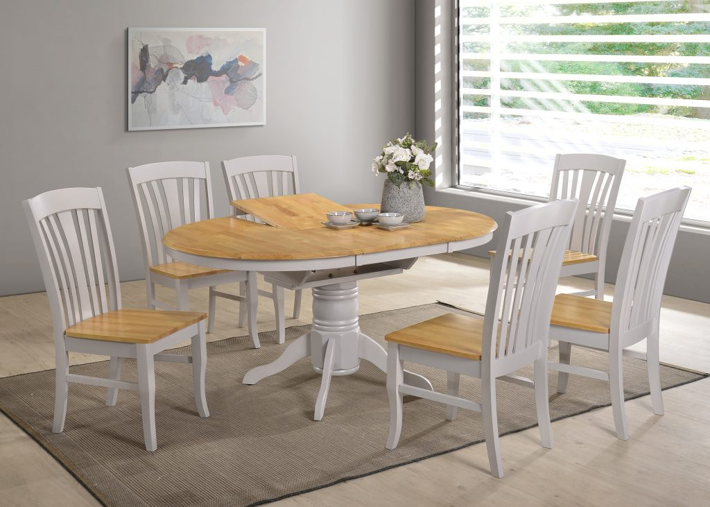 Incredible Normandy Grey Oak Dining Set Squirreltailoven Fun Painted Chair Ideas Images Squirreltailovenorg