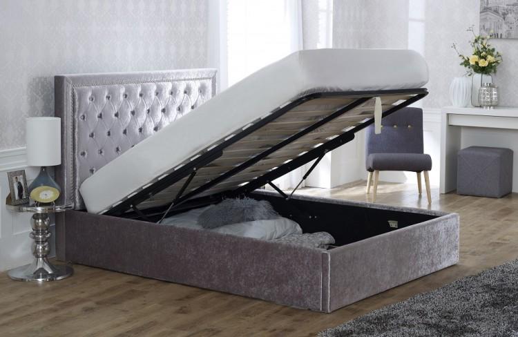 Admirable Limelight Rhea Crushed Ice Ottoman Bedframe Creativecarmelina Interior Chair Design Creativecarmelinacom