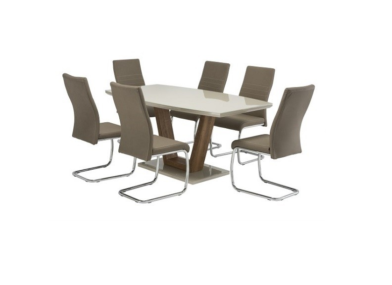 Venice Latte Dining Table Forever Furniture